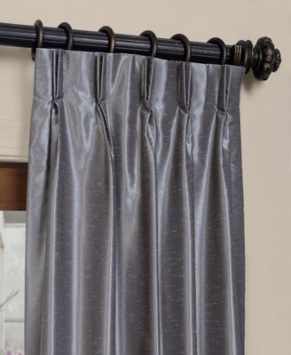 Exclusive Fabrics Furnishings Blackout Vintage Textured Pleated 25 X 84 Curtain Panel Reviews Window Treatments Blinds Macy S In 2019 Pleated Curtains Curtains Faux Silk Curtains