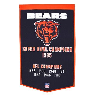 "FREE SHIPPING Chicago Bears NFL ""Dynasty"" Banner (24""x36"")"