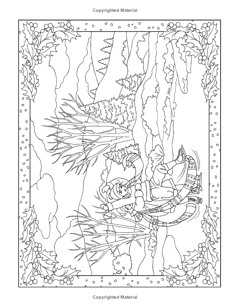 Creative Haven Winter Scenes Coloring Book Creative Haven Coloring Books Marty Creative Haven Coloring Books Coloring Pages Winter Christmas Coloring Pages