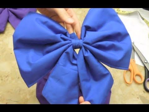 How to Sew Anime Cosplay/Christmas Style Bows - YouTube