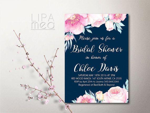 Bohemian Bridal Shower Invitation Printable, Floral Bridal Shower - printable bridal shower invites