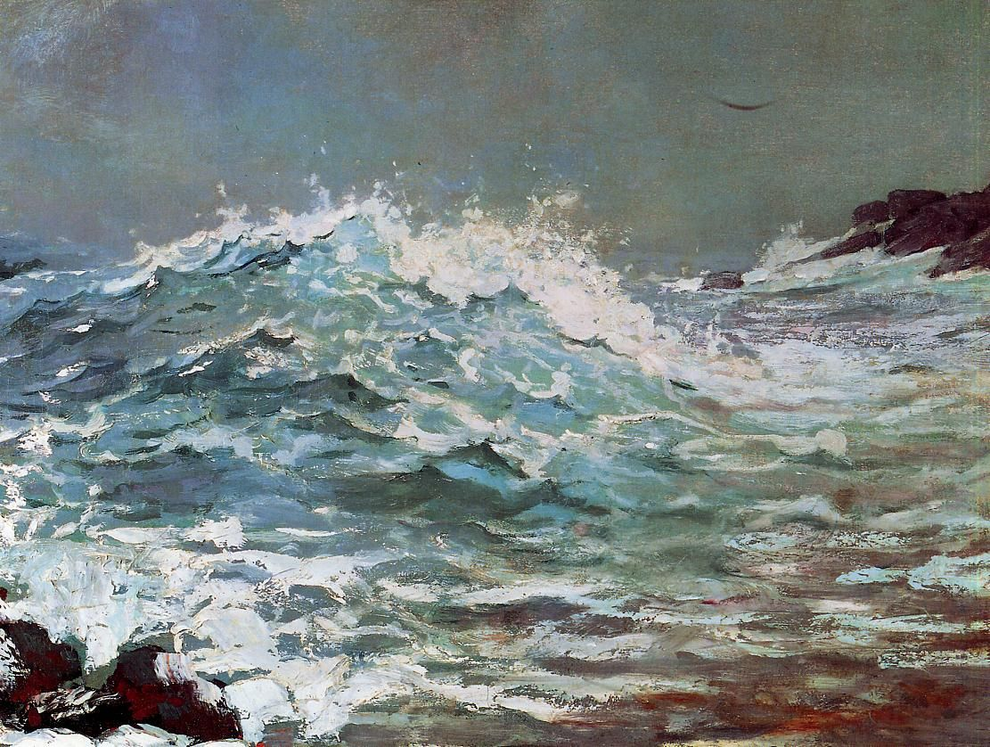 The Backrush 1895 Winslow Homer Paintings Winslow Homer Painting