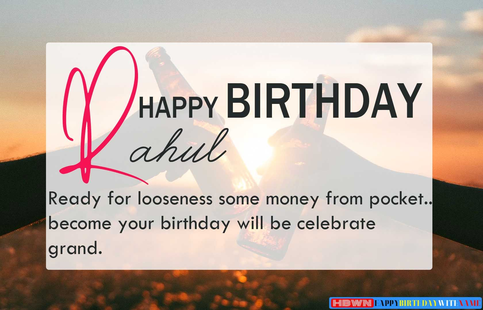 Happy Birthday Rahul Wishes Images, Cake, Song & Card  Birthday