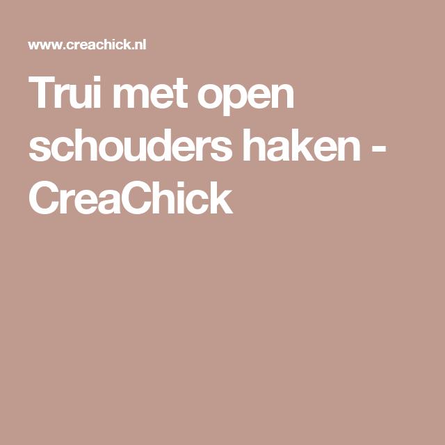 Trui met open schouders haken – CreaChick
