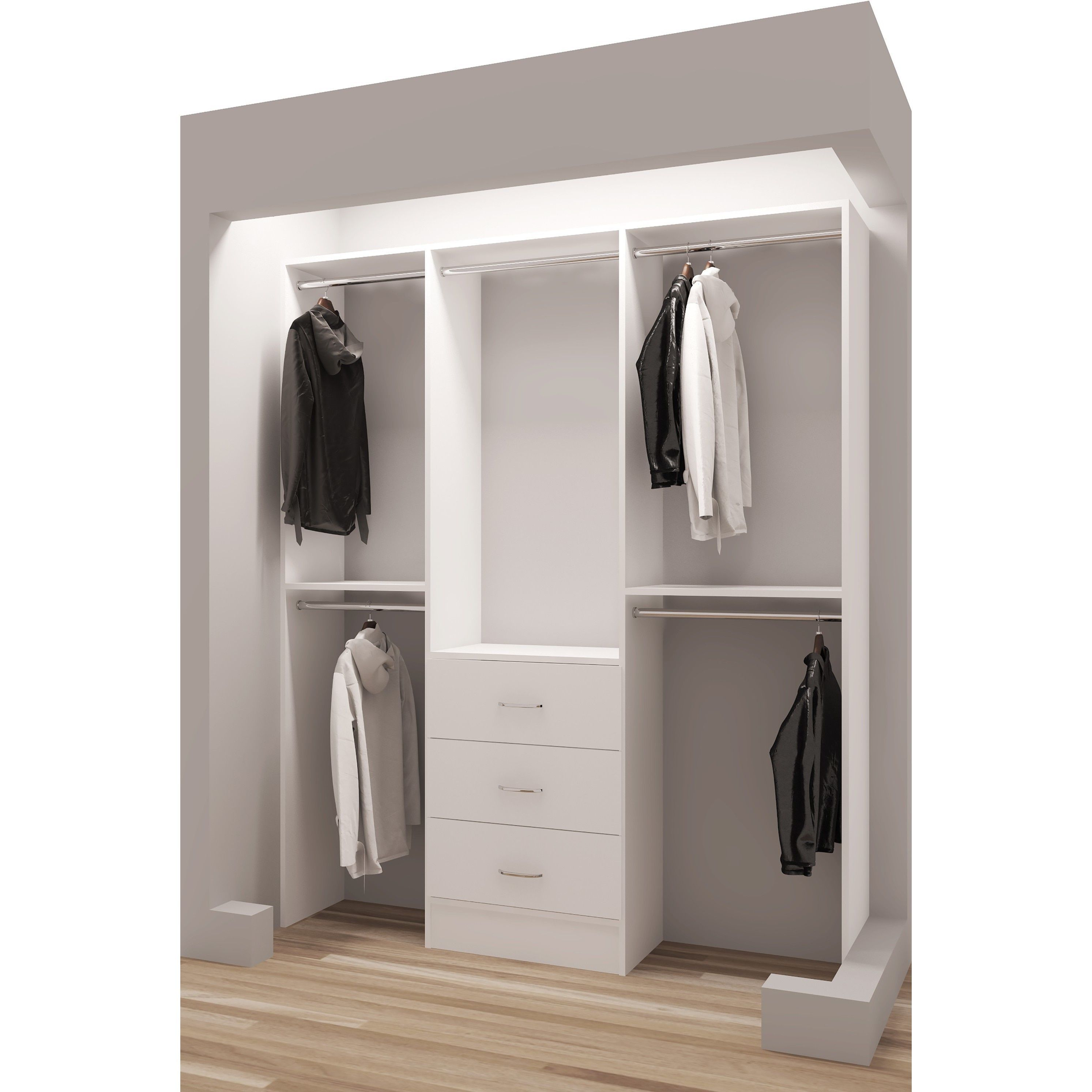 drawers with in white sized interesting full hanging great organizer closet wooden