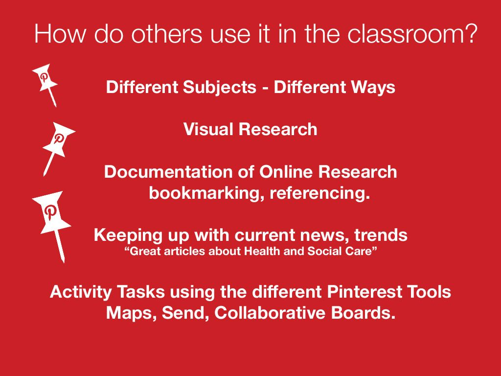 How Do Others Use Pinterest In Class Graphic Only