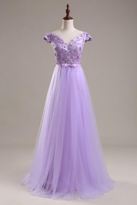 New Arrival Beading Prom Dresses,Charming Gray Evening
