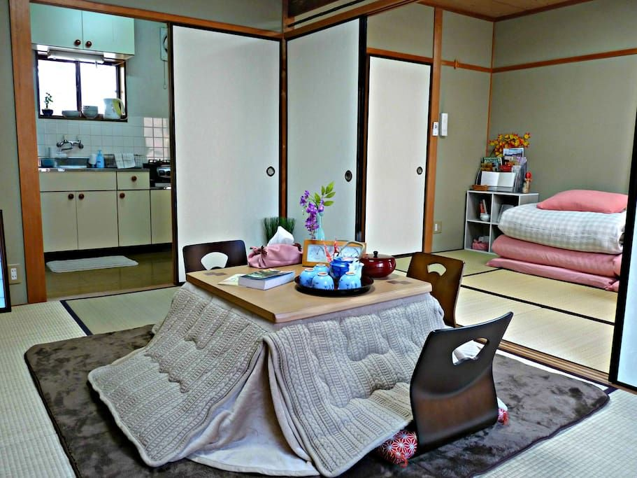 living and bedroom in authentic japanese
