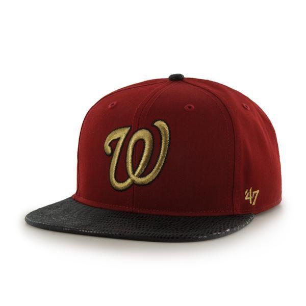 8967e2dbff8 Washington Nationals Juli Gunk Croc Vintage Razor Red 47 Brand Adjustable  Hat