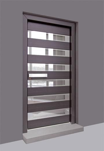 puerta entrada estilo moderno combinando con cristal