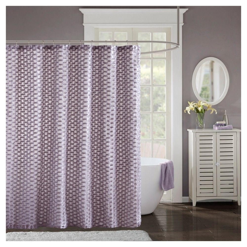 Shower Curtain Solid Purple