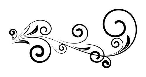 Decorative Vintage Swirl Floral Silhouette Design Swirl Swirl Design Floral