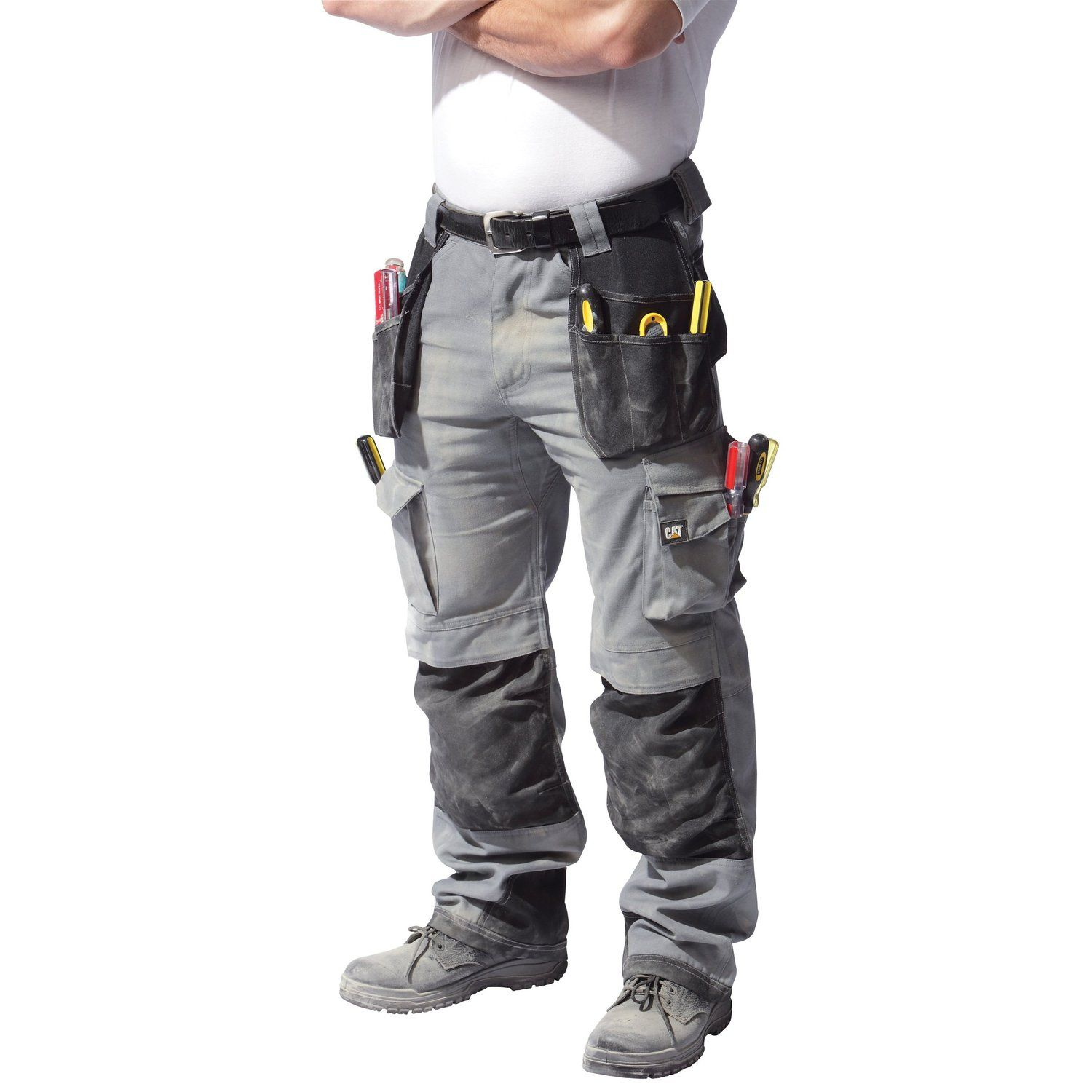 6bf816d445 Caterpillar CAT C172 Black Trademark Work Trousers with Knee Pad Pockets:  Amazon.co.uk: Clothing