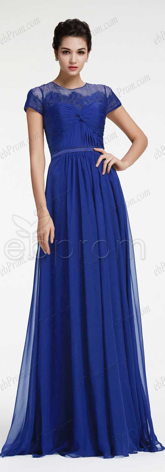 302fe82100620 Royal blue prom dresses with sleeves modest prom dress long evening dresses  plus size