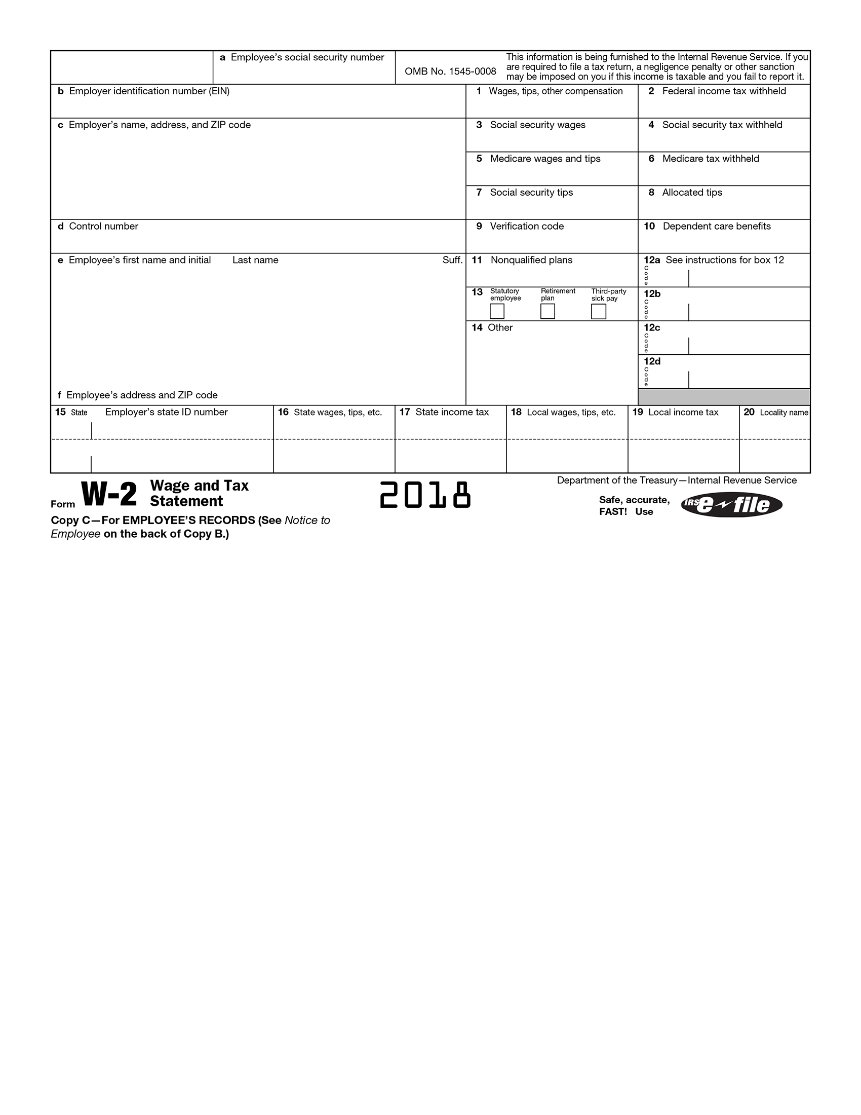 Fillabletaxforms Create A Free W2 Form W2 Forms Tax Forms Credit Card Services