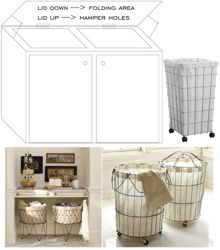 Laundry Hampers I Would Like Some That Are More Stylish Than My Cur Exposed