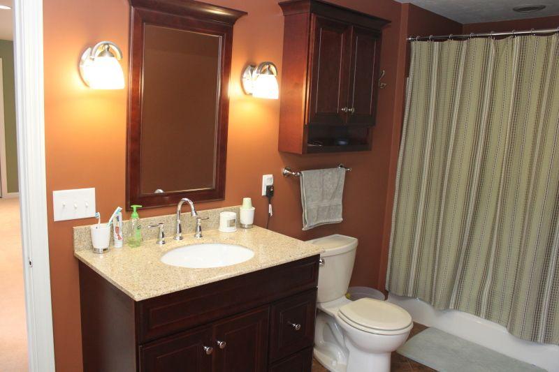 Master Bath Benjamin Moore Copper Kettle 1218 Paint Colors Copper Kettle Framed Bathroom Mirror