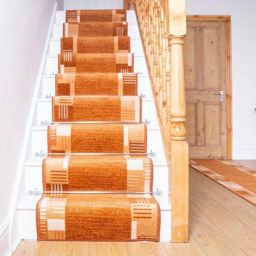 Best Alpena Twist Pile Terracotta Stair Runner Rosalind Wheeler 400 x 300