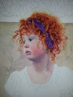 How To Paint Red Hair In Watercolor The Art Of Susan Walsh