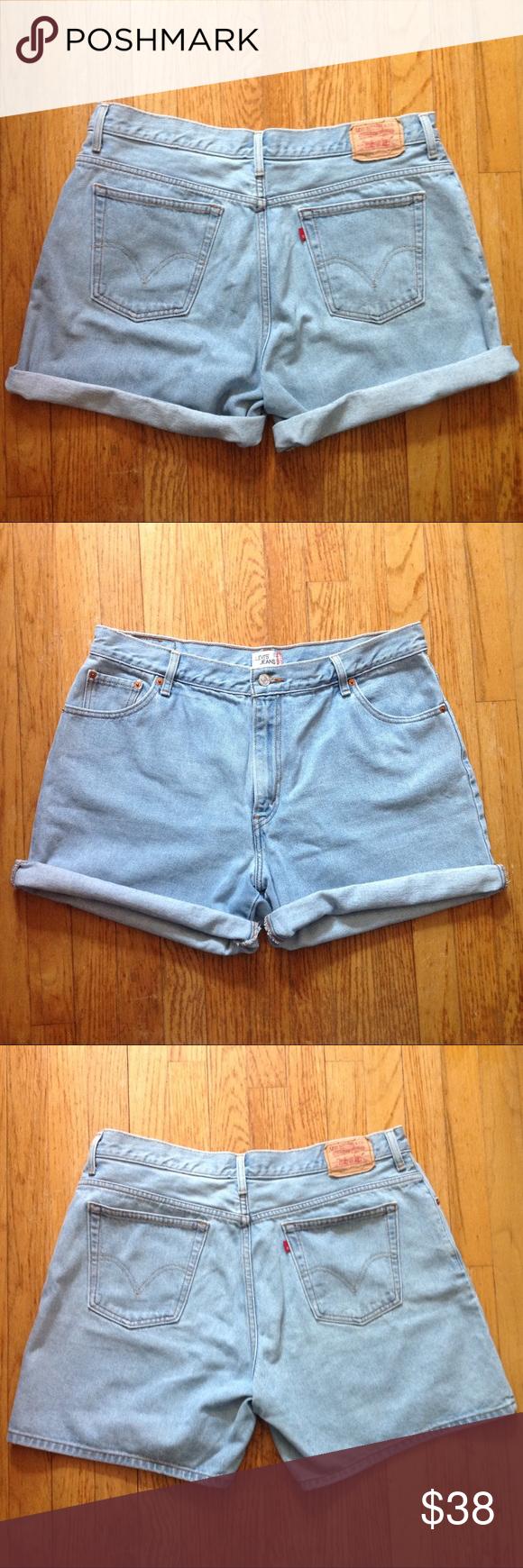 1784ef7d56 80s/90s LEVIS high waisted light wash mom shorts Description: Vintage Levis  are a