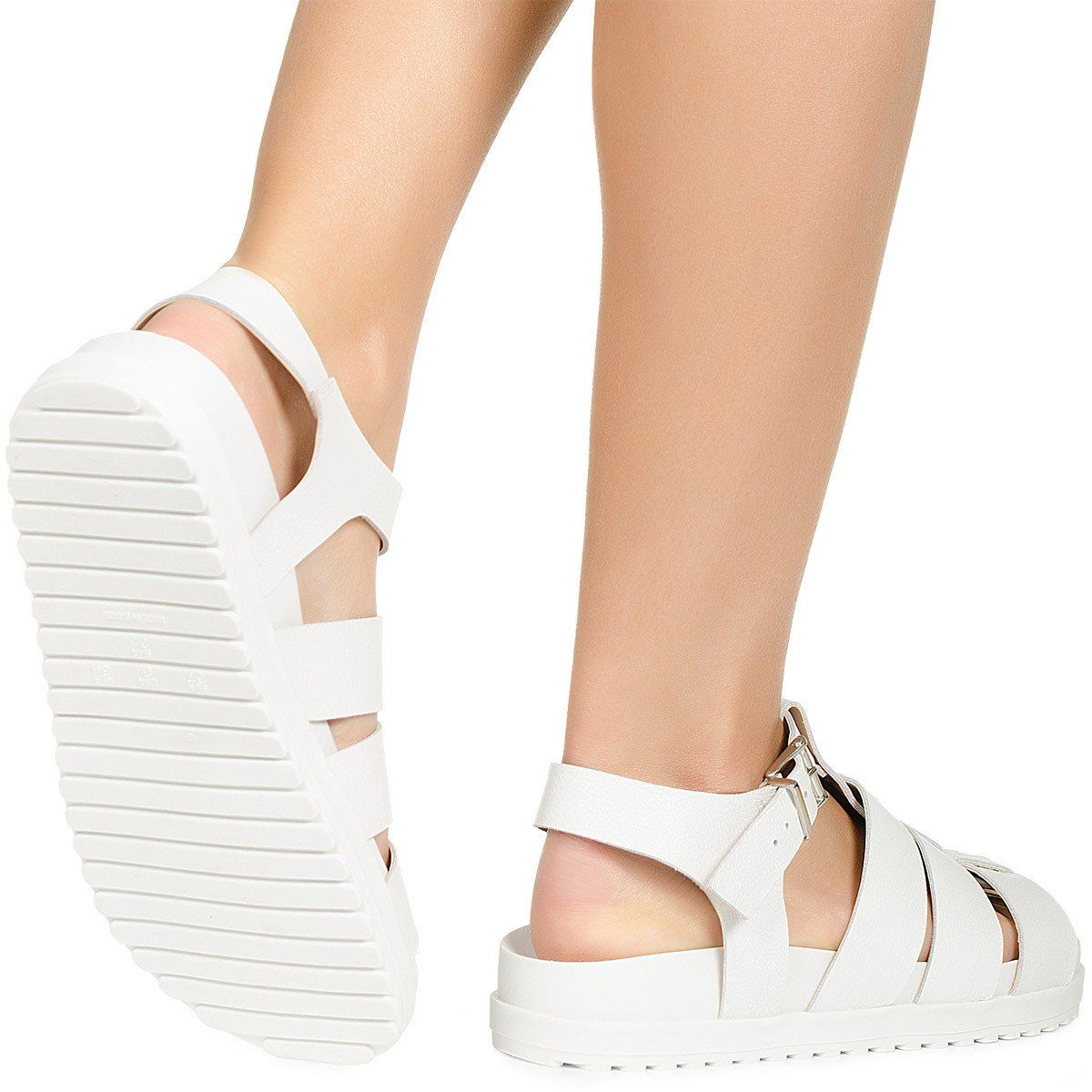 e9bfbe4058 Sandália flatform branca Taquilla - Taquilla - Loja online de sapatos  femininos
