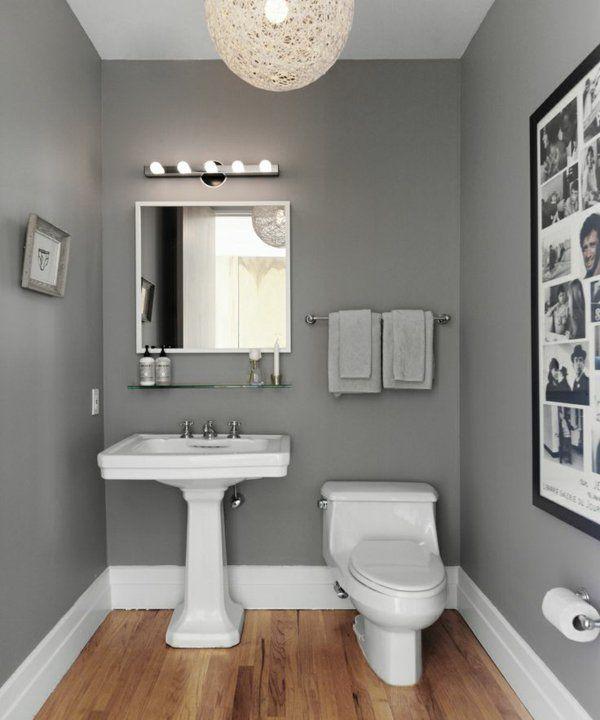 Schön Wandfarbe Grau Kleines Bad Einrichten Farbgestaltung Ideen