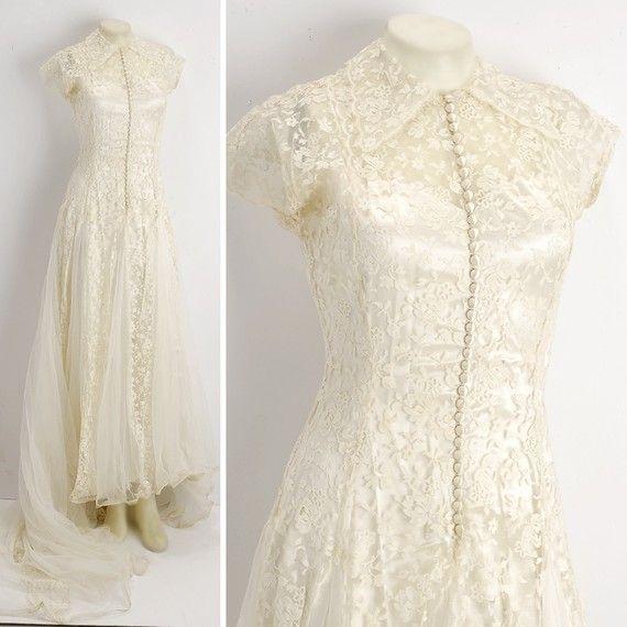 1000  images about Vintage lace wedding dresses on Pinterest ...