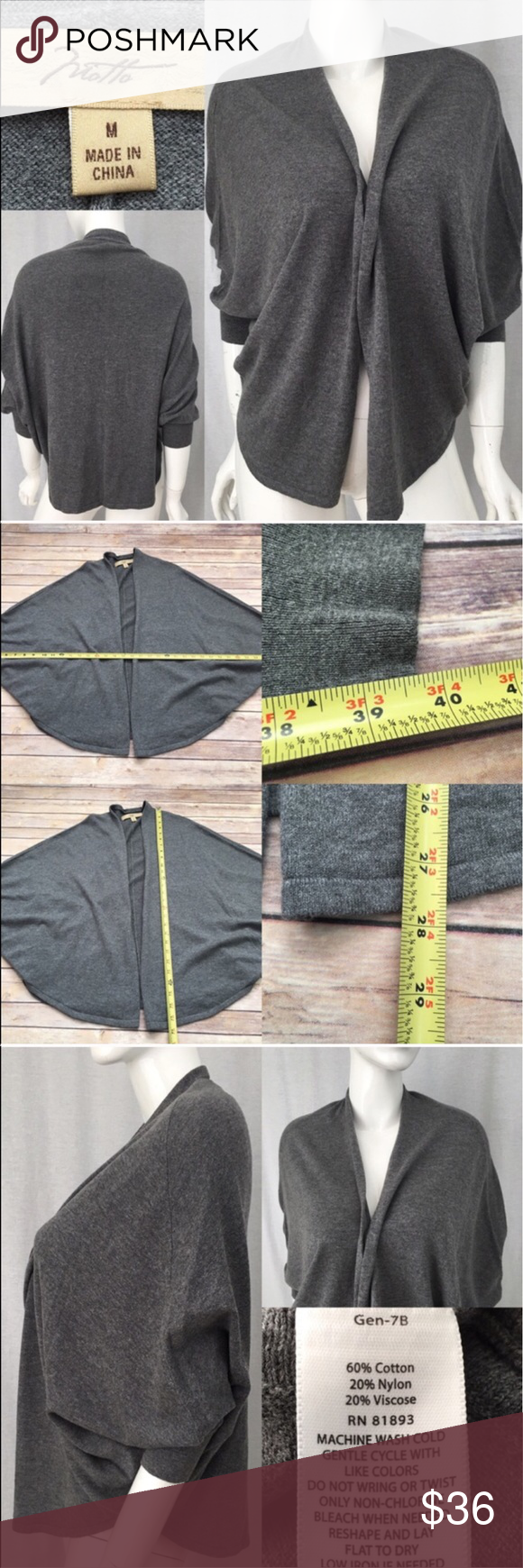 🎍Sz Medium Motto Batwing Gray Open Front Cardigan Measurements are in photos. Normal wash wear, no flaws. D2  I do not comment to my buyers after purchases, due to their privacy. If you would like any reassurance after your purchase that I did receive your order, please feel free to comment on the listing and I will promptly respond.   I ship everyday and I always package safely. Thank you for shopping my closet! Motto Sweaters Cardigans