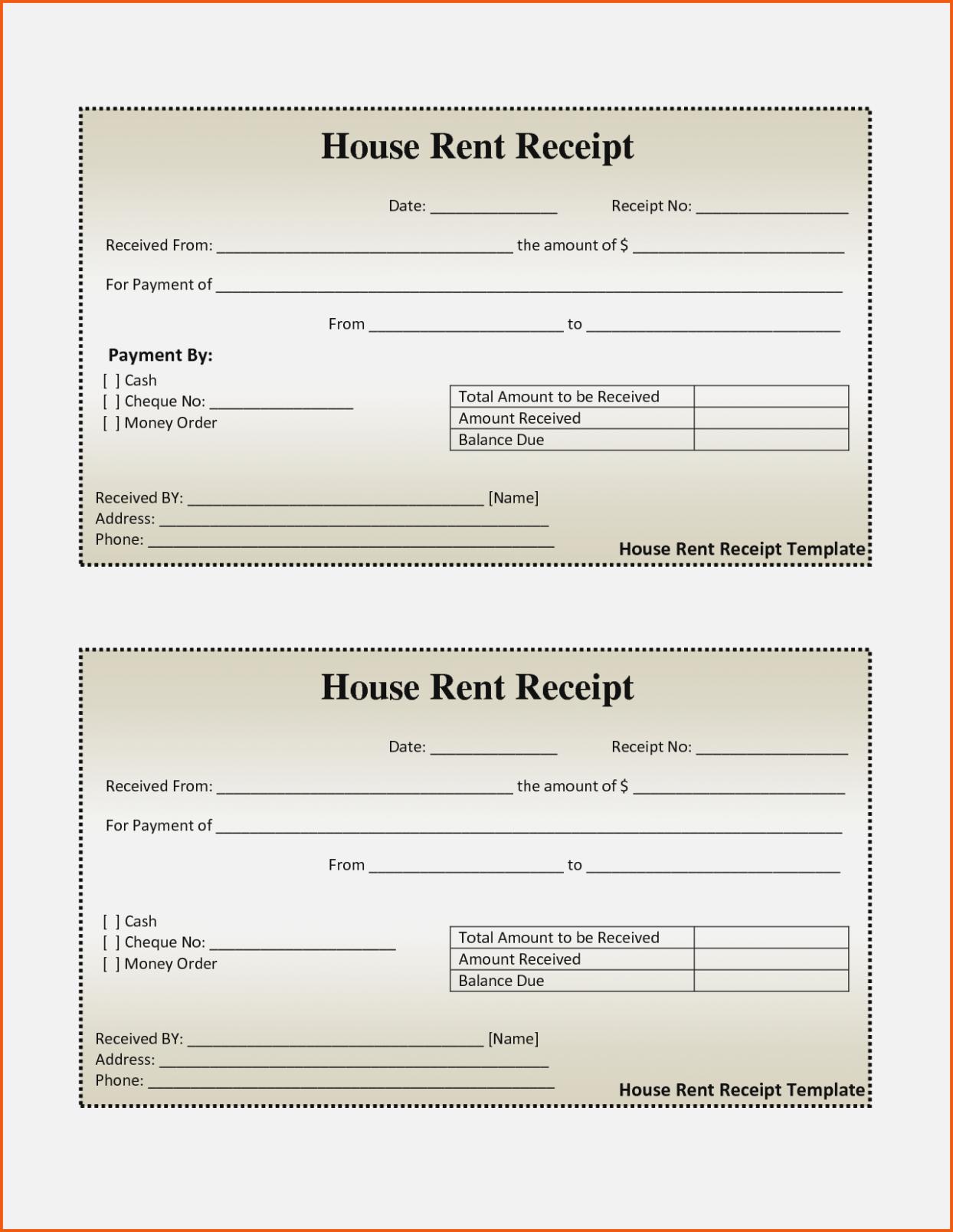 New Printable Rent Receipts Xlstemplate Xlsformats Docummenttempelate Exceltemplate Microsoftexcel Receipt Template Free Receipt Template Invoice Template
