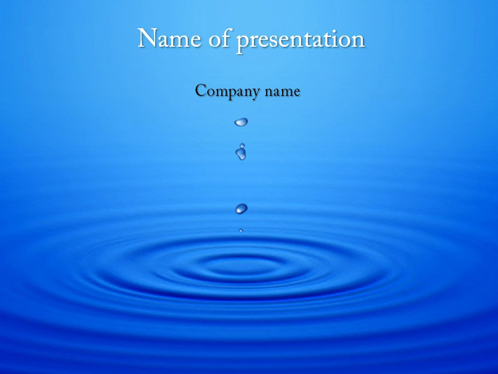 Dripping water powerpoint template templates pinterest template powerpoint and keynote presentations themes templates backgrounds tips advices for presentations toneelgroepblik Image collections