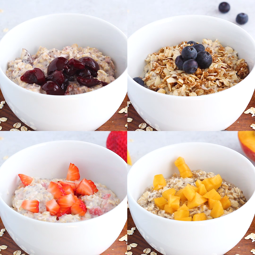 Summer Fruit Overnight Oats  4 Ways