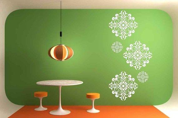 Decorativetiles Set Of 5 Medallion Decal Home Wall Art Vinyl