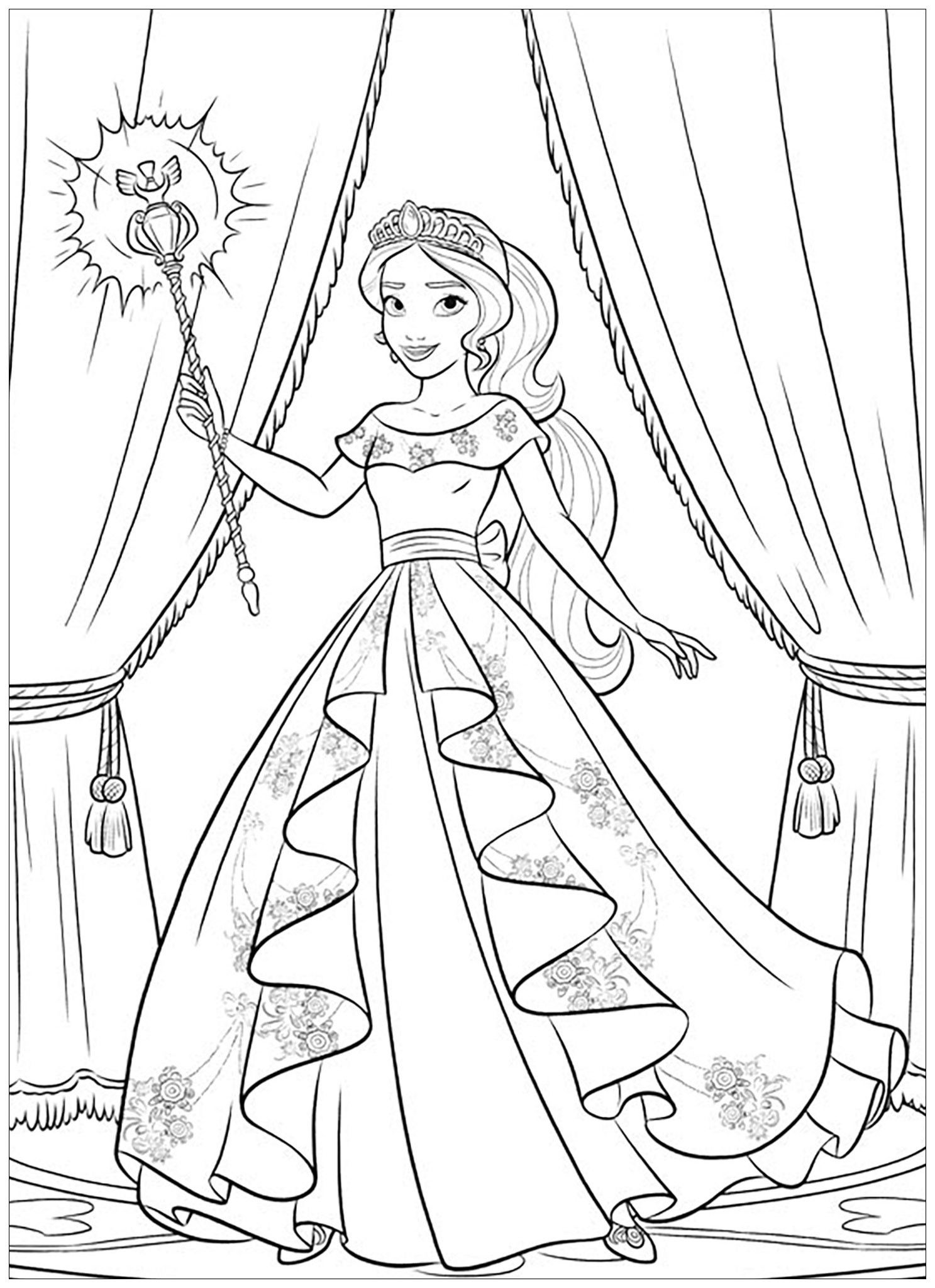 Princess Elena Coloring Page Youngandtae Com Disney Coloring Pages Disney Princess Coloring Pages Barbie Coloring Pages