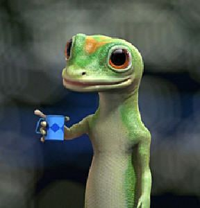 Geico Gecko With His Virtual Coffee That Tastes Terrible Valentines Day Memes Funny Pictures Humor