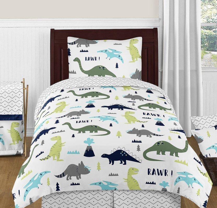 Mod Dinosaur 4 Piece Comforter Set With Images Dinosaur