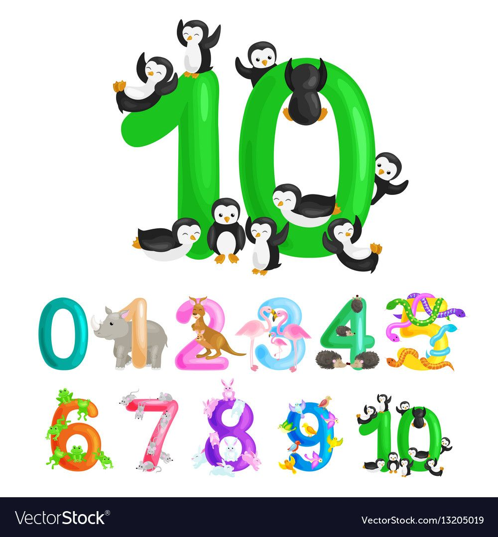 Ordinal Number 10 For Teaching Children Counting Vector Image On Kindergarten Books Alphabet Kindergarten