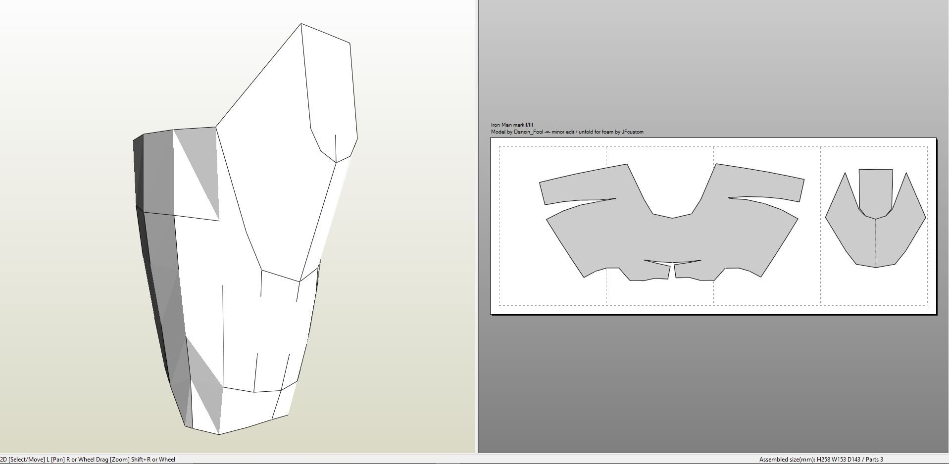 Papercraft Pdo File Template For Iron Man Mk Iii Full Armor