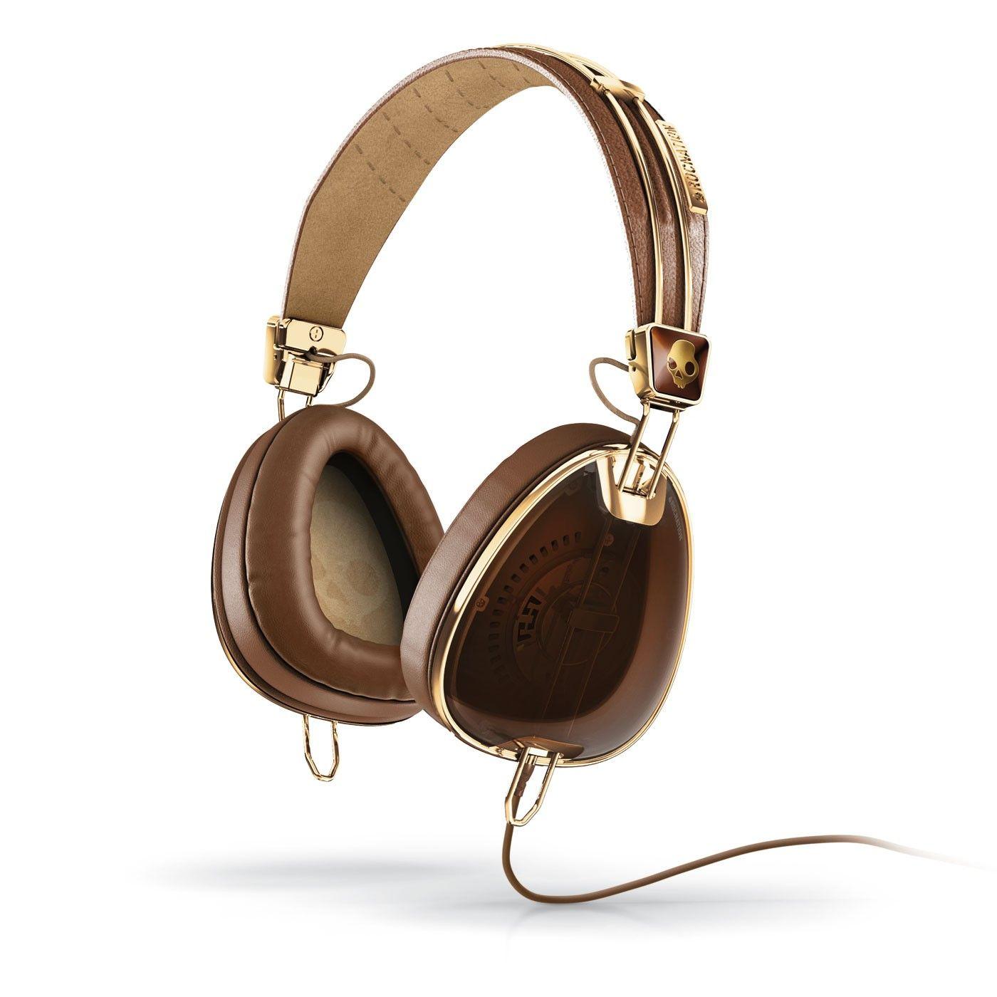 Skullcandy Aviator 2.0 Brown/gold Headphones W/mic3
