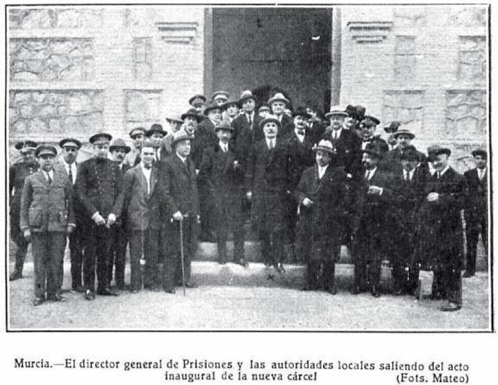 Murcia, Carcel vieja inauguración C. 1929 | Murcia, Primo de rivera