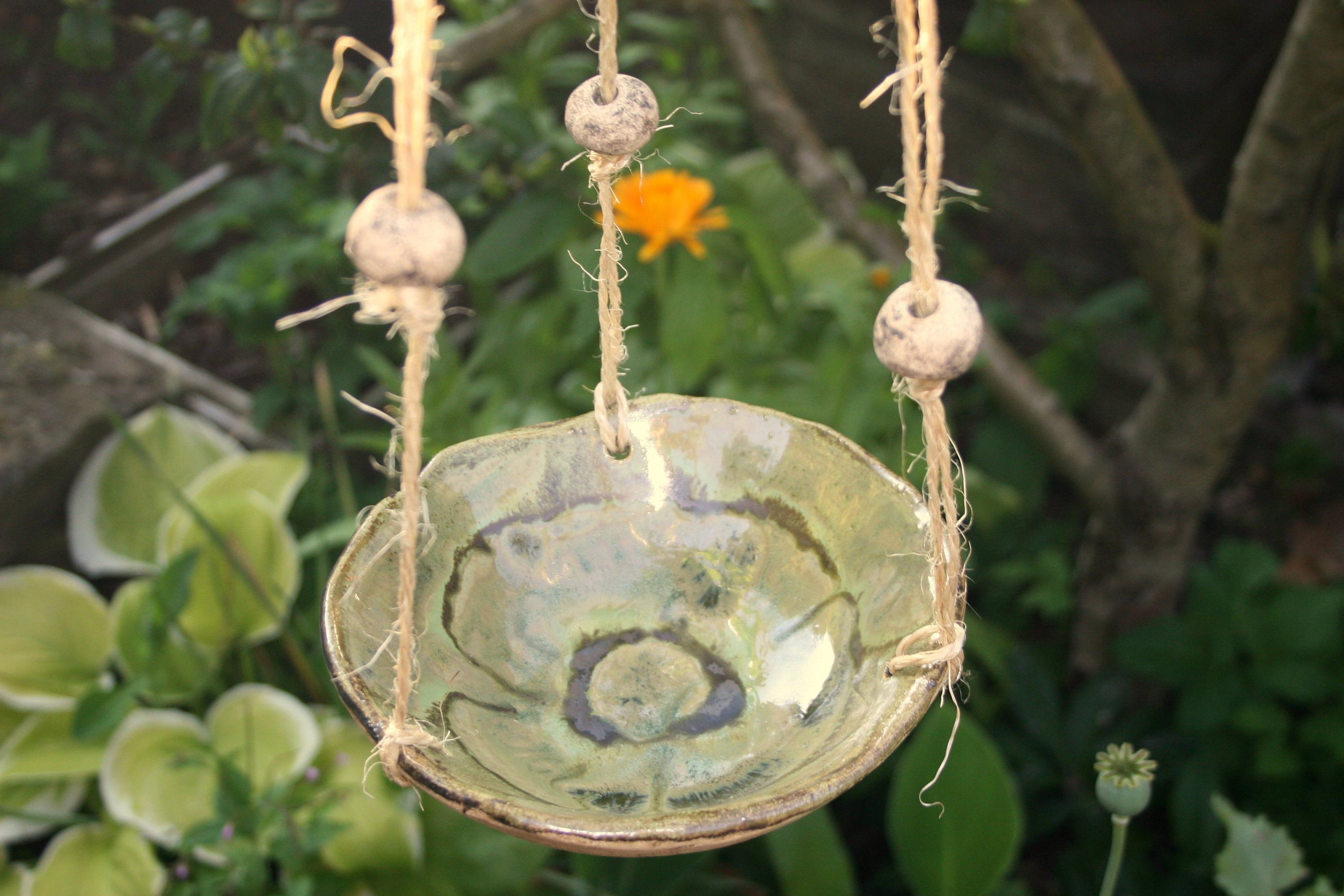 Ceramic bird potions, insect potions, hanging, green-atelier MJ-Arts ...