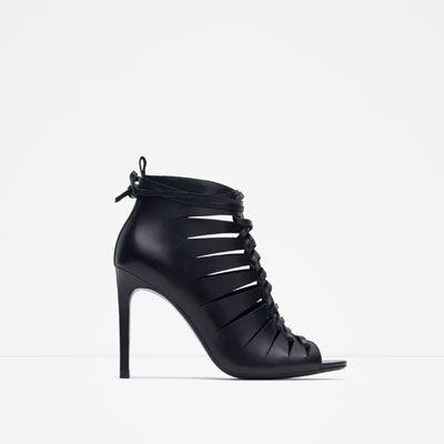 Footwear Zara Abotinada Piel Xoqftwxzo Sandalia Mujer Pinterest Tacón drCBxoWe