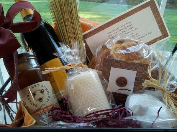 Traditional Housewarming Gift U2014 Wine, Bread, Salt And A Broom.