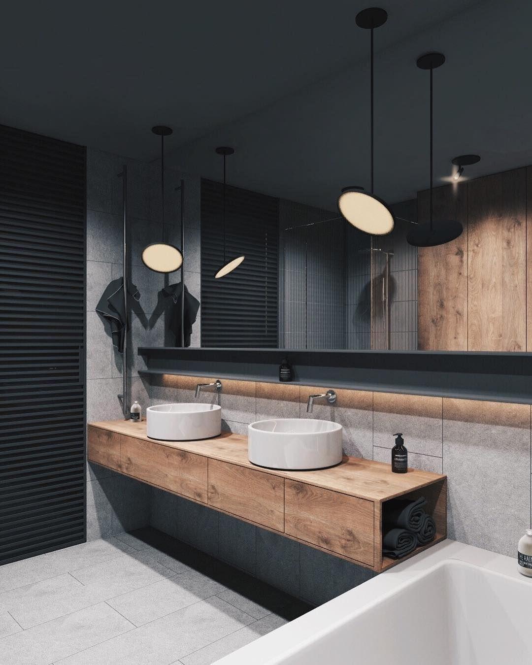 Welp Industriële inrichting badkamer inspiratie. Groot eiken houten FO-21