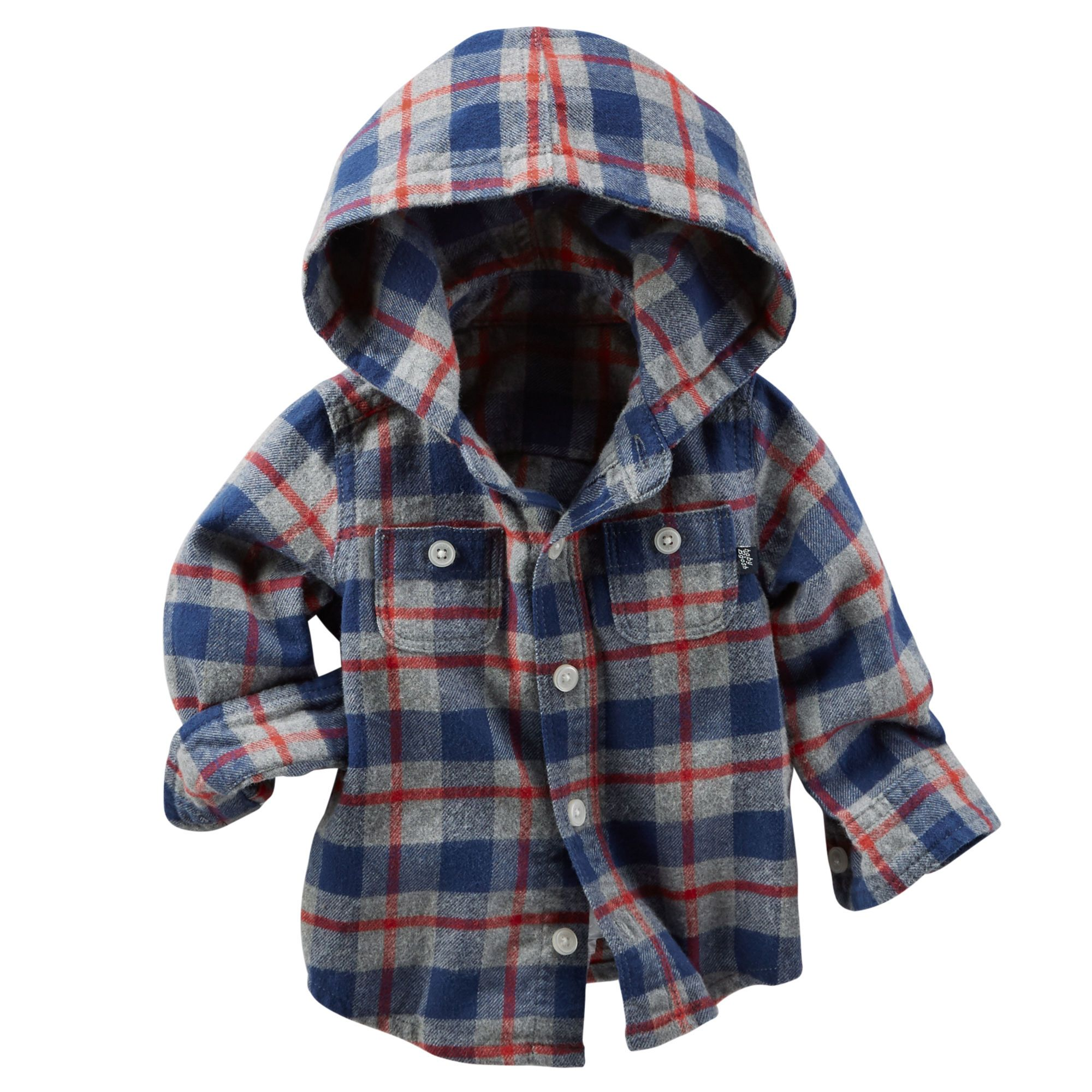 Hooded Flannel Shirt   Baby boy winter outfits, Baby boy ...