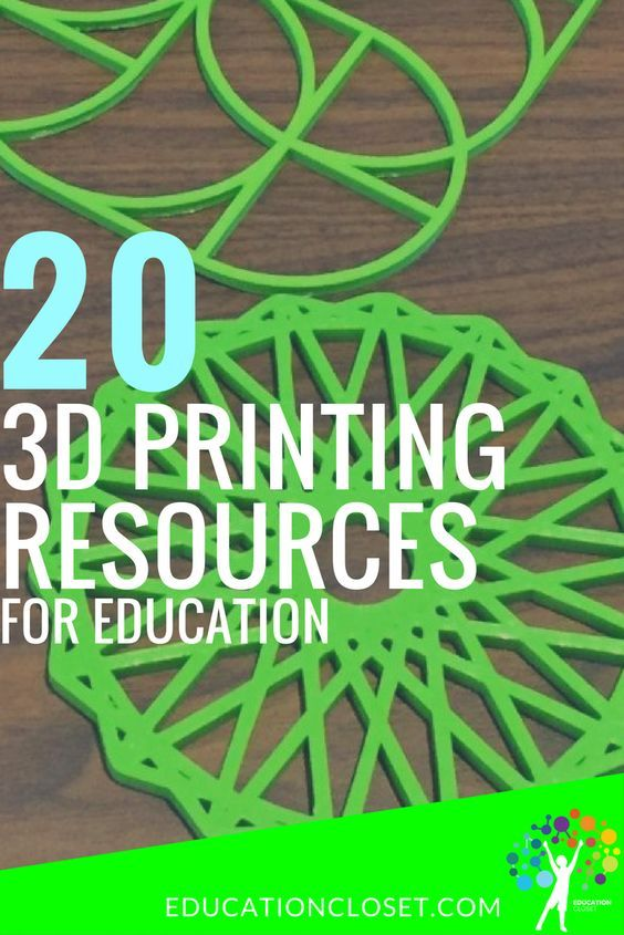 20 Education 3D Printing Resources | The Institute for Arts Integration and STEAM
