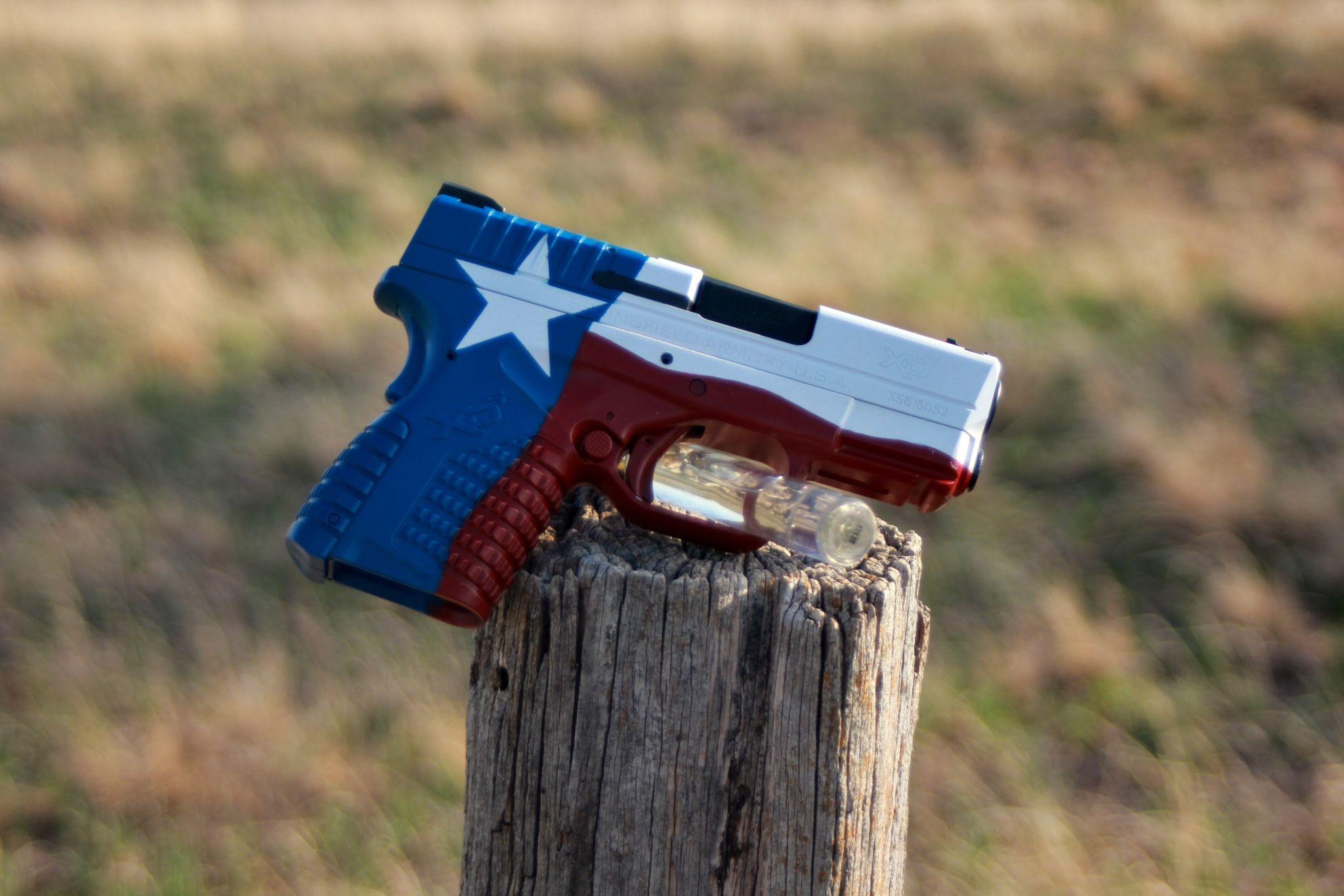 Cerakote Texas Flag Guns