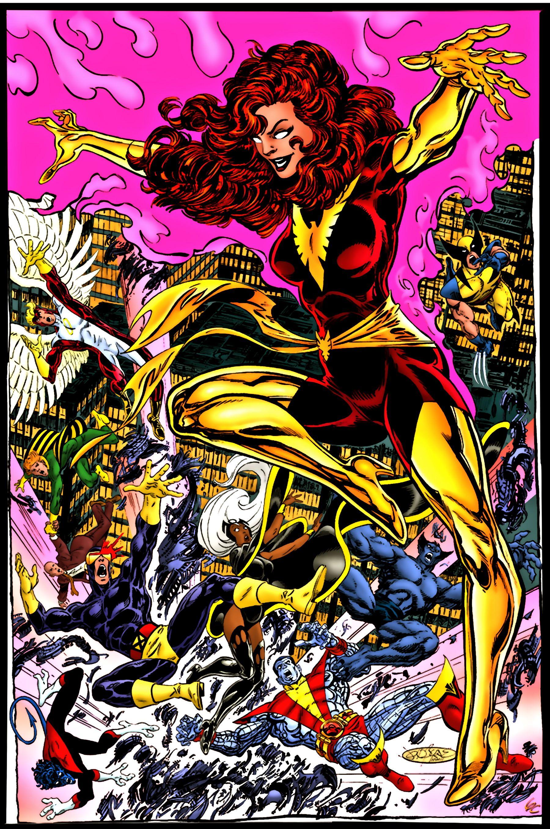 Dark Phoenix Jean Grey Vs The X Men Marvel Jean Grey John Byrne Marvel Comics Art X men dark phoenix marvel comics