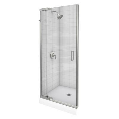 Kohler - Porte de douche pivot Purist(R) sans cadre avec verre en - installer un cadre de porte