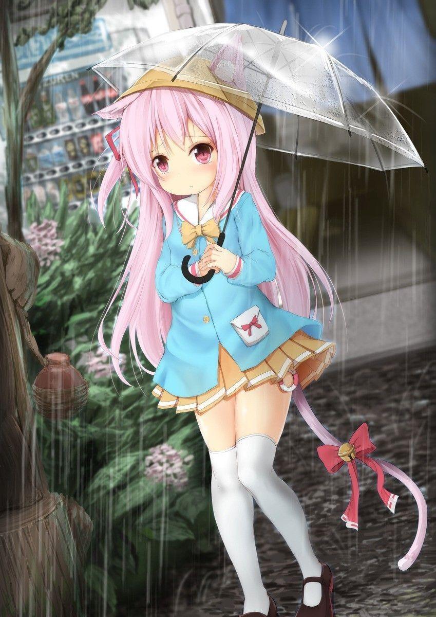 Kucing mu kehujanan maz v Cute anime character
