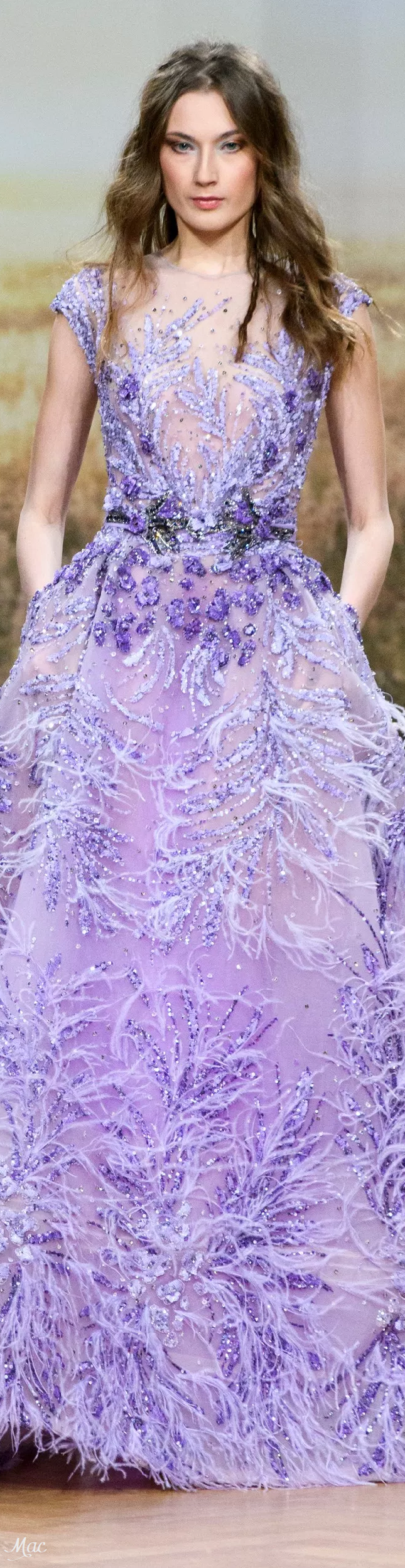 Spring 2018 Haute Couture Ziad Nakad | morado | Pinterest | Lilas ...